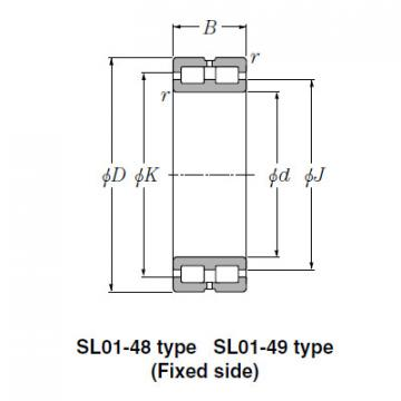 Double Row Full Complement Roller Bearing-SL02-4836